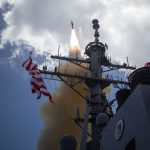 160525-O-AO981-004 HAWAII (May 25, 2016) The Missile Defense Agency and U.S. Navy sailors aboard USS Hopper (DDG 70) successfully conducted two developmental flight tests of the Standard Missile-3 (SM-3) Block IB Threat Upgrade guided missile off the west coast of Hawaii. The flight tests, designated Controlled Test Vehicle (CTV)-01a and CTV-02, demonstrated the successful performance of design modifications to the SM-3 third-stage rocket motor (TSRM) nozzle. The results of these flight tests will support a future SM-3 Block IB production authorization request. This imagery is from the first developmental test conducted on May 25, 2016, designated as Controlled Test Vehicle (CTV)-01a. (U.S. Navy photo by Leah Garton/Released)